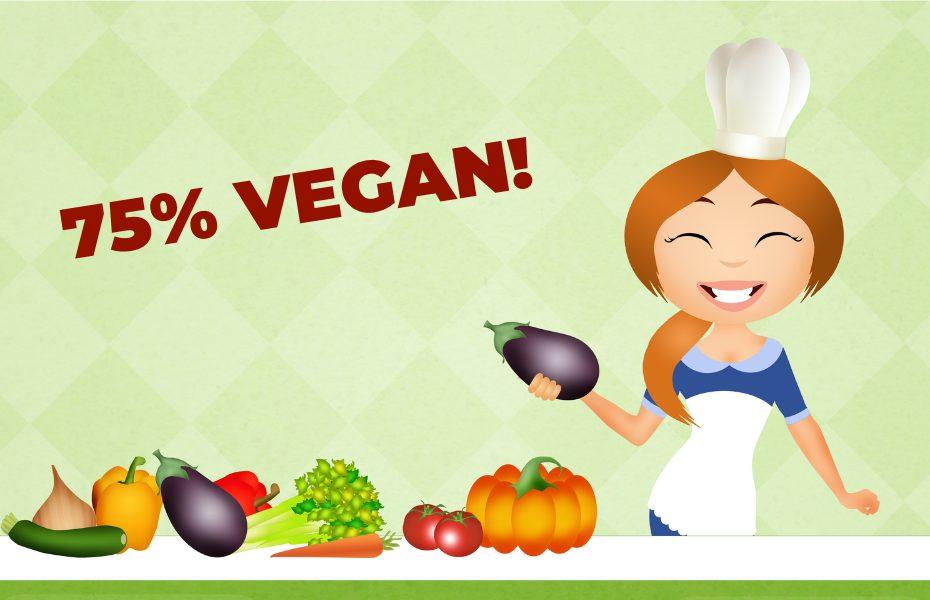 75% Vegan